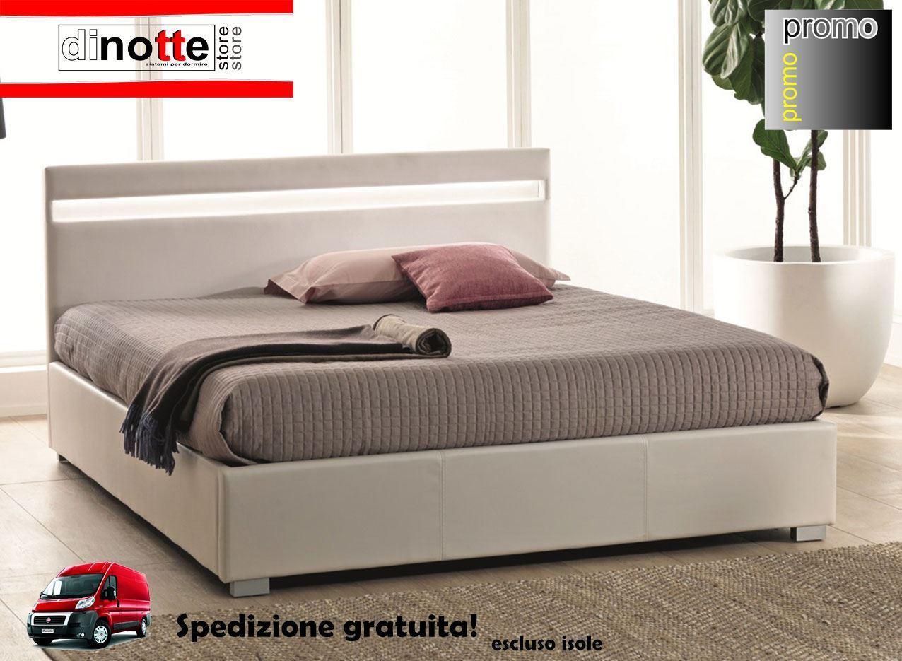 Letto Matrimoniale Con Rete.Di Notte Store Letto Imbottito Silvia Matrimoniale Con Kit Rete E