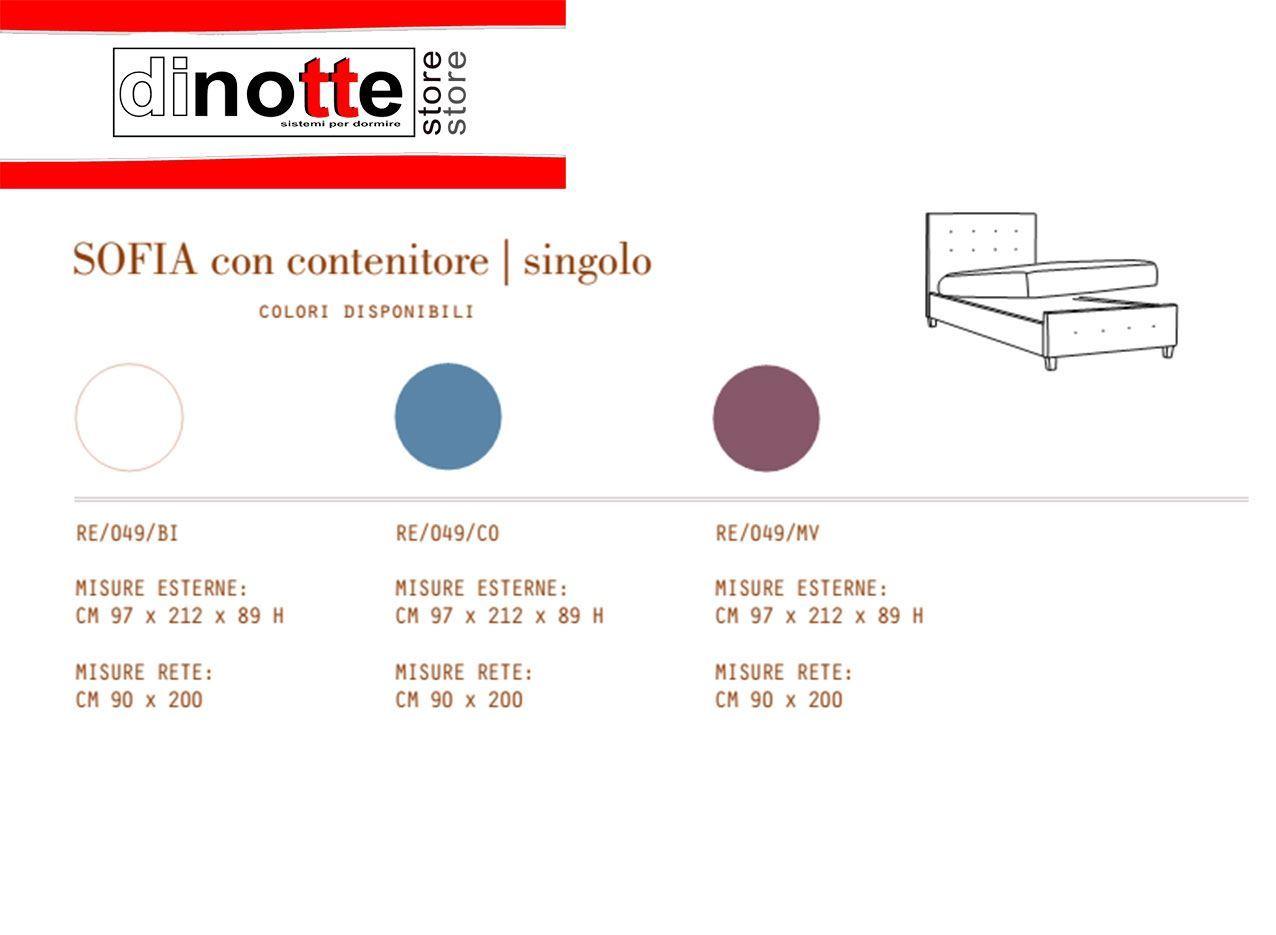 Misure Letto Singolo Con Contenitore.Di Notte Store Letto Singolo Sofia Rivestisto In Similpelle Con