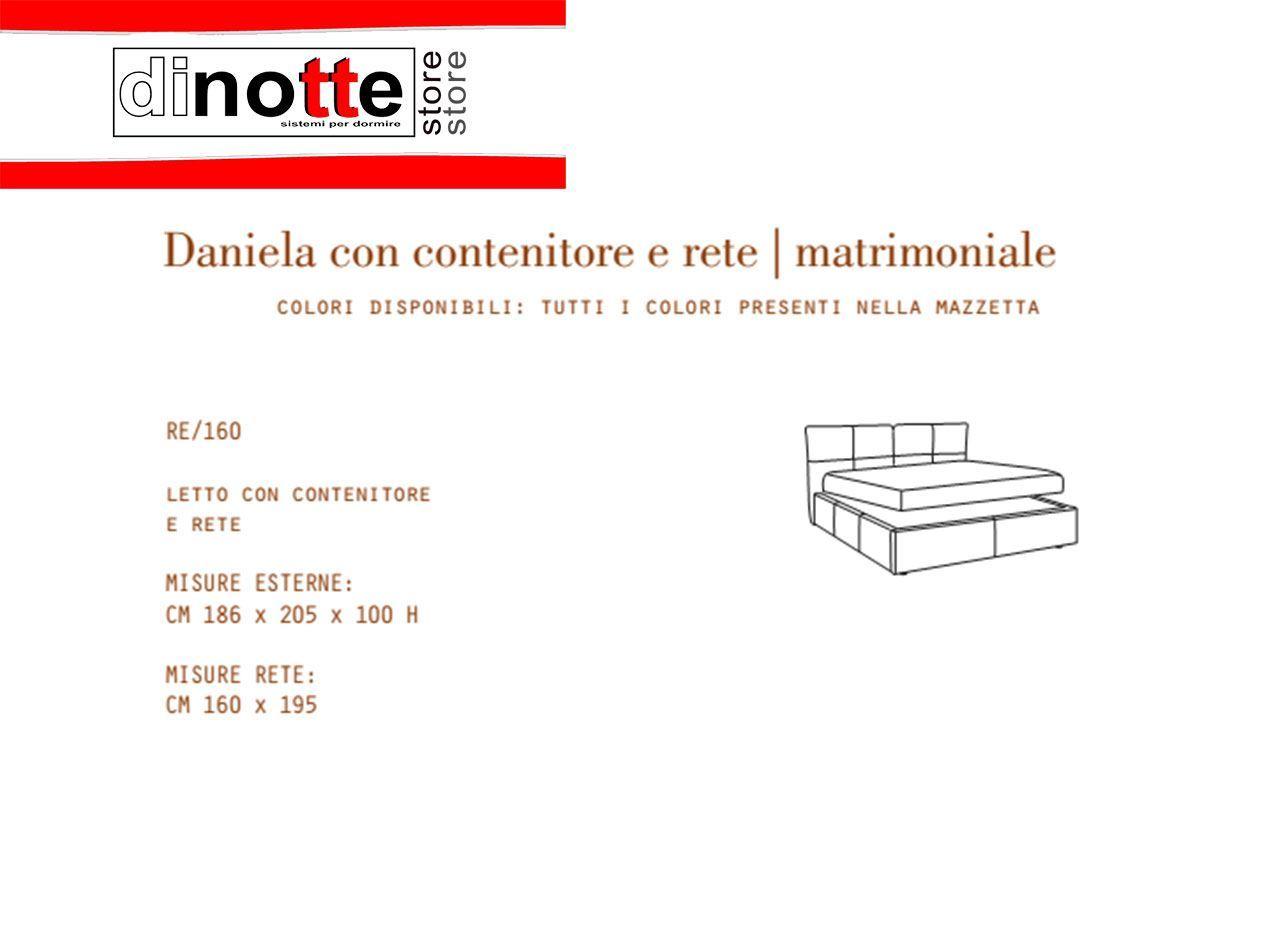 Misure Letto Contenitore.Di Notte Store Letto Matrimoniale Imbottito Daniela Contenitore