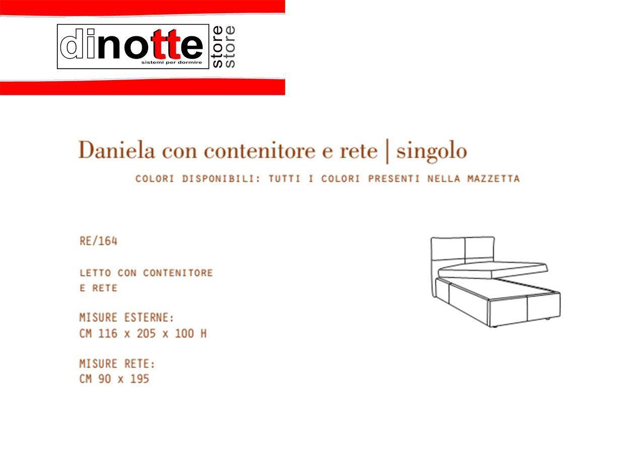 Di Notte Store. LETTO SINGOLO IMBOTTITO DANIELA CON CONTENITORE RE/164