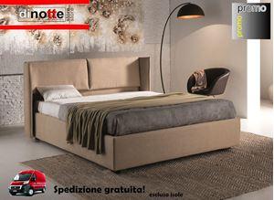 Immagine di LETTO MATRIMONIALE IMBOTTITO NICOLE CON RETE KIT RE/141