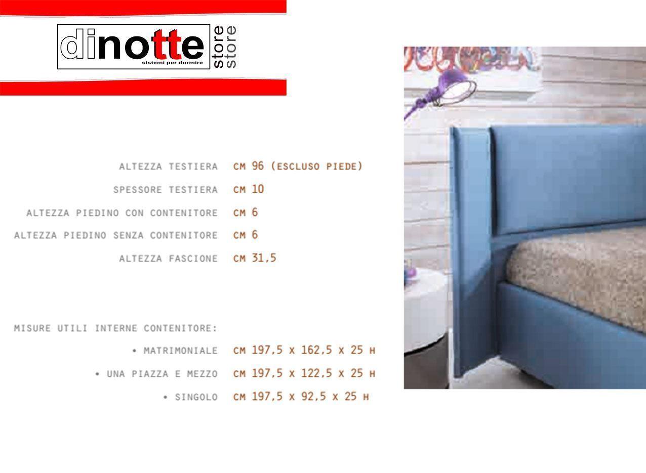 Di notte store letto una piazza e mezza imbottito nicole con rete kit re 143 - Kit letto contenitore ...