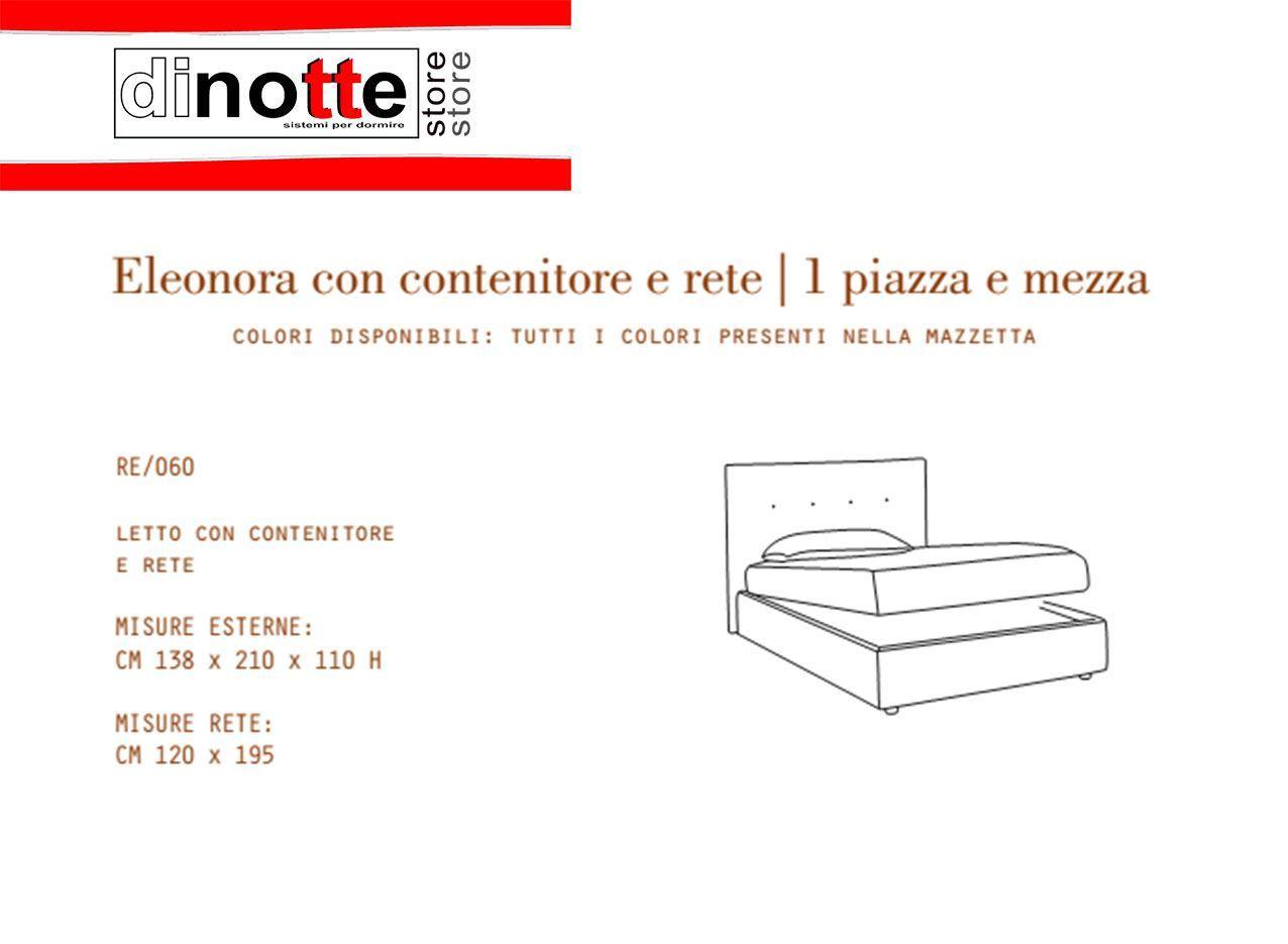 Di notte store letto imbottito una piazza e mezza for Letto contenitore una piazza e mezza