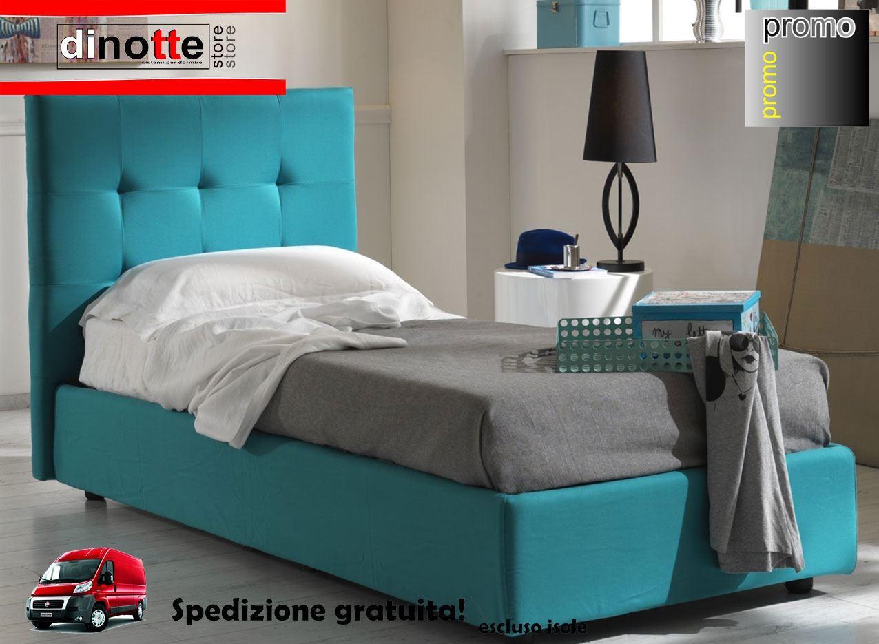 Di Notte Store. LETTO IMBOTTITO SINGOLO ELEONORA CONTENITORE RE/050