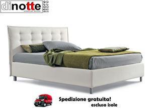 Immagine di LETTO IMBOTTITO MATRIMONIALE SFODERABILE BEATRICE CON E SENZA BOTTONI