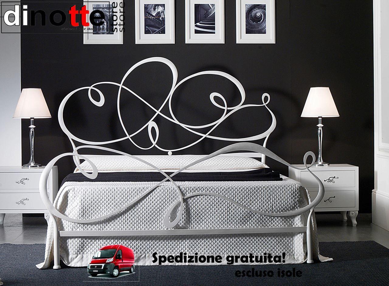 Camere Da Letto Foglia Argento : Di notte store letto ferro capriccio foglia argento