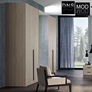 Immagine di Armadio MCS Grace 2.0 ARM004-005-006 6 Ante in Legno e Specchio Color Grigio-Bianco-Olmo