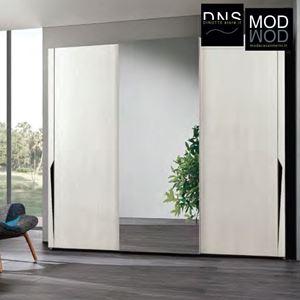 Immagine di Armadio MCS Grace 2.0 ARM013 3 Ante Scorrevoli in Legno con Specchio Bianco Kiri