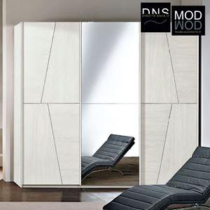 Immagine di Armadio MCS Grace 2.0 ARM014 3 Ante Scorrevoli in Legno con Specchio Bianco Kiri