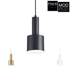 Immagine di Lampada a Sospensione Ideal Lux HOLLY E27 Bianco - Nero - Ottone