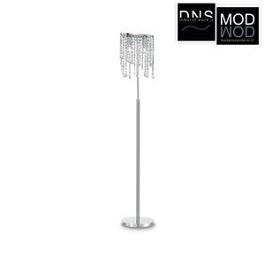 Immagine di Piantana Ideal Lux RAIN 2 luci E14 in metallo e cristallo
